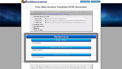 free ebay store templates builder - sellercore free ebay template software screenshots