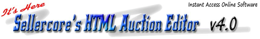 Free Ebay Templates, HTML Editor, Online Auction Design Software