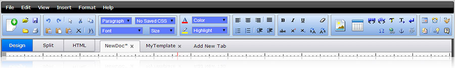 Easy Word Processor Style Interface Toolbar